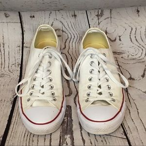 Men's Converse white low tops